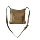 Leather Shoulder Bag LANCASTER Golden, bronze, copper