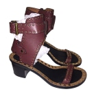 Sandales à talons ISABEL MARANT Rouge, bordeaux