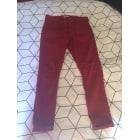 Jeans dritto BA&SH Rosso, bordeaux