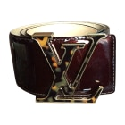 Ceinture large LOUIS VUITTON Rouge, bordeaux