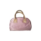 Non-Leather Handbag LANCEL Pink, fuchsia, light pink