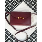 Leather Shoulder Bag DES PETITS HAUTS Red, burgundy