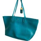 Sac XL en cuir RALPH LAUREN Bleu, bleu marine, bleu turquoise