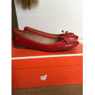 Ballet Flats BOBBIES Red, burgundy