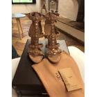 Sandales à talons ALAÏA Beige, camel