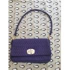 Leather Clutch MIU MIU Purple, mauve, lavender