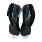 Wedge Sandals CÉLINE Black