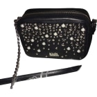 Leather Shoulder Bag KARL LAGERFELD Black