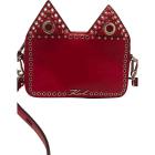Leather Shoulder Bag KARL LAGERFELD Red, burgundy