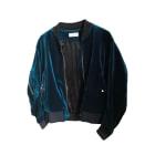 Zipped Jacket SANDRO Blue, navy, turquoise