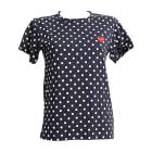 Top, T-shirt COMME DES GARÇONS PLAY Blue, navy, turquoise
