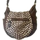 Leather Shoulder Bag ISABEL MARANT Taupe