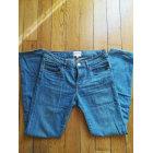 Jeans large, boyfriend SÉZANE Bleu, bleu marine, bleu turquoise