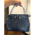 Leather Handbag BULGARI Blue, navy, turquoise