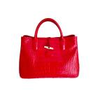 Leather Handbag LONGCHAMP ROUGE INTENSE