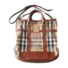 Non-Leather Shoulder Bag BURBERRY Brown