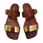 Flat Sandals LOUIS VUITTON monogram et cognac