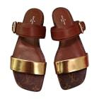 Flat Sandals LOUIS VUITTON monogram et cognac