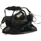 Leather Handbag BALENCIAGA City Black