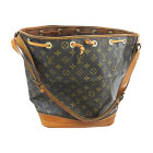 Leather Handbag LOUIS VUITTON Noé Brown