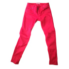 Skinny Pants, Cigarette Pants MAJE Red, burgundy