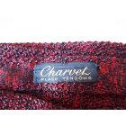 Tie CHARVET Red, burgundy