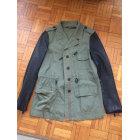 Leather Jacket ZARA Khaki