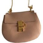 Leather Shoulder Bag CHLOÉ Drew Pink, fuchsia, light pink