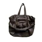 Leather Handbag JEROME DREYFUSS Khaki