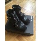 Biker Ankle Boots THE KOOPLES Black