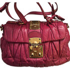 Leather Handbag MIU MIU Pink, fuchsia, light pink