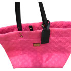 Non-Leather Oversize Bag LOUIS VUITTON Pink, fuchsia, light pink