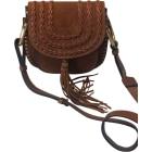 Leather Shoulder Bag CHLOÉ Hudson Brown