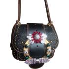 Leather Shoulder Bag MIU MIU Black