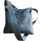 Sac en bandoulière en tissu HERMÈS Bleu, bleu marine, bleu turquoise
