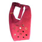 Leather Shoulder Bag GERARD DAREL Purple, mauve, lavender