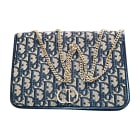 Non-Leather Handbag DIOR Blue, navy, turquoise