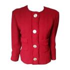 Blazer, veste tailleur CHANEL Rouge, bordeaux