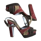 Heeled Sandals SERGIO ROSSI Red, burgundy