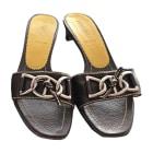 Sandales à talons PRADA Marron