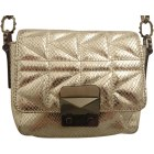 Leather Shoulder Bag KARL LAGERFELD Silver