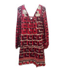 Mini Dress ANTIK BATIK Red, burgundy