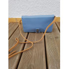 Leather Clutch NAT & NIN Blue, navy, turquoise