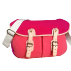 Non-Leather Shoulder Bag UPLA Pink, fuchsia, light pink