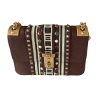 Leather Shoulder Bag VALENTINO Brown