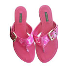Flat Sandals LOUIS VUITTON Pink, fuchsia, light pink