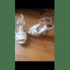 Sandales à talons TOMMY HILFIGER Blanc, blanc cassé, écru