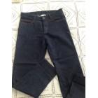 Pantalon droit SOEUR Bleu, bleu marine, bleu turquoise