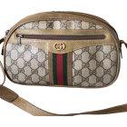 Leather Shoulder Bag GUCCI Beige, camel