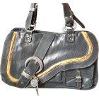 Leather Shoulder Bag DIOR Noir et camel